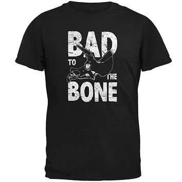 Dinosaur Triceratops Bad to the Bone Mens Soft T Shirt