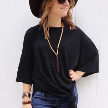 Lounge with Me Black Tunic