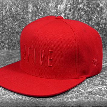 9five Red on Red Snapback