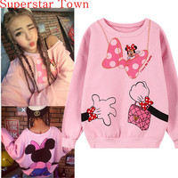 2016 New Brand Cute 3D Printed Casual Hoodie Sweatshirt Hooded Pullover Tops Casual Kawaii Pink Clothing Vestidos