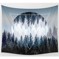 Forest Moon Tapestry, Beach Throw, Home Decor  150*200cm Polyester