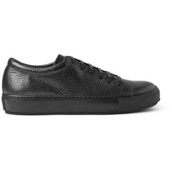 Acne Studios - Adrian Grained-Leather Sneakers | MR PORTER