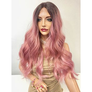 Rose Pink Ombre' Long Hair Lace Front Wig | Pink Friday 1218