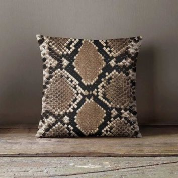 Snake Skin Pillowcase | Decorative Throw Pillow