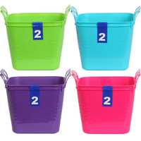 Bulk Colorful Square Plastic Storage Buckets with Handles, 2-ct. Packs at DollarTree.com