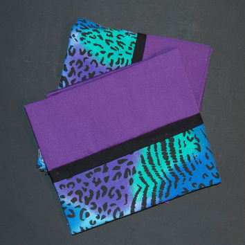 Cheetah Print Pillow Cases - Easter and Spring Time Pillow Cases - Blue Green and  Purple Cheetah Print Pillow