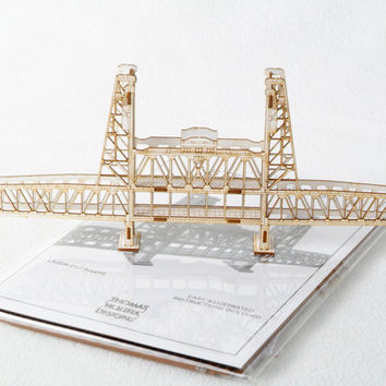 Portland Oregon's Steel Bridge - 3D Model Kit