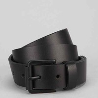 Matte Black Leather Belt- Black