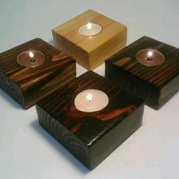 Wedding Decor, Tealight Candle Holder, Wedding Centerpiece, Room Decoration Set of FOUR