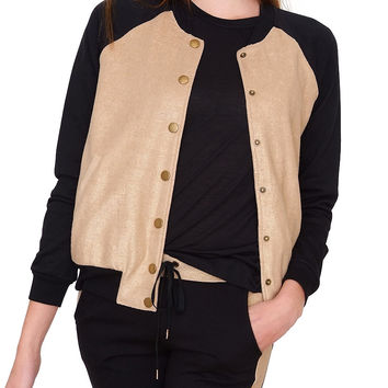 Golden Autumn Bomber Jacket