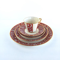 Gorgeous Lenox Firesong 5 Place Setting