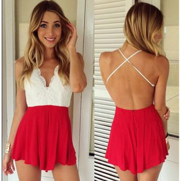 FASHION HOT LACE JUMPSUIT ROMPER