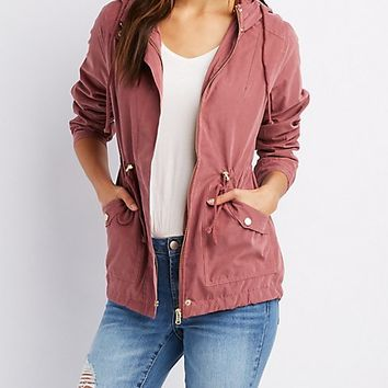 Lightweight Hooded Anorak Jacket