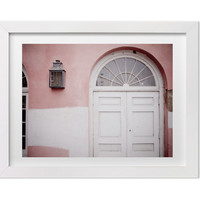 New Orleans Art, New Orleans Photography, Pink and White Architecture Detail, Door Photography, New Orleans Print, Contemporary Home Decor
