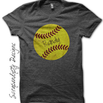 Iron on Softball Shirt PDF - Sports Iron on Transfer / Custom Softball Dad Shirt / Softball Girls Tshirt / Sports Mom Clothing Tee IT492-P