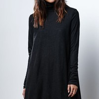 Glamorous Turtleneck Swing Dress - Womens Dress - Black