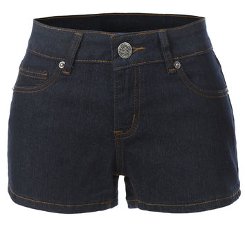 LE3NO Womens Casual Denim Jean Shorts with Pockets (CLEARANCE)