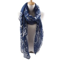 Quest Sweet Soft Voile Fabric Sheer Infinity Scarf