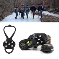 1 Pair Walking Cleats Ice Gripper Ice Snow Studs Anti Slip Ice Snow Walking Shoes Boots Spike Grip Camping Climb Ice Crampon
