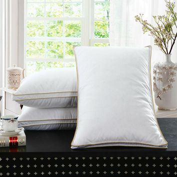 Peter Khanun Brand Design White Goose Feather Neck Health Care Bedding Pillow 100% Cotton Shell Allow The Feather To Breathe 008