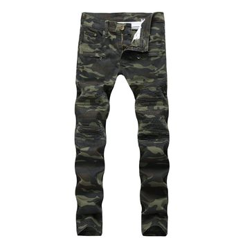 Camouflage Slim Casual Denim Jeans [1574710771805]
