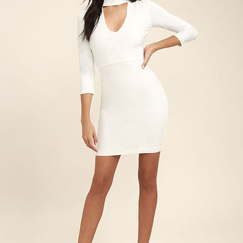 Seven Wonders Ivory Bodycon Dress
