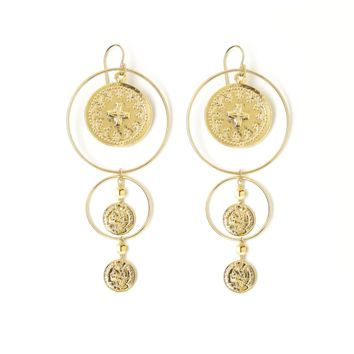 Eclipse Gold Coin Earrings