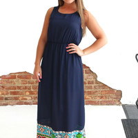 The Perfect Ending Maxi - Navy Blue