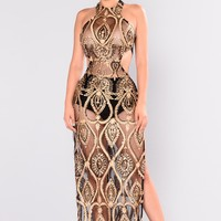 Shayna Sequin Dress - Gold