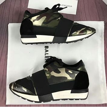 BALENCIAGA Fashion Women Men Casual Shoes Camouflage/Black I-OMDP-GD