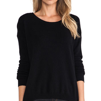 Central Park West Luxe Cashmere Sweater in Black
