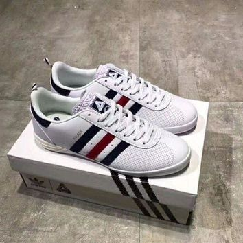 DCCKG7J Adidas Palace Indoor leather punching casual shoes!