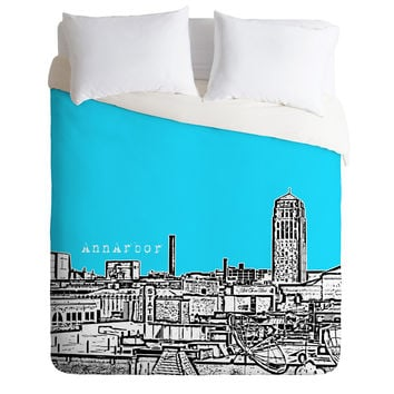 Bird Ave Ann Arbor Sky Duvet Cover