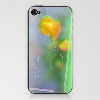 POPPY - HAPPY INSIDE iPhone & iPod Skin by M✿nika  Strigel	 | Society6