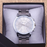 Popular Quartz Casual Watch Man Luxury Brand Stainless Steel WristWatch