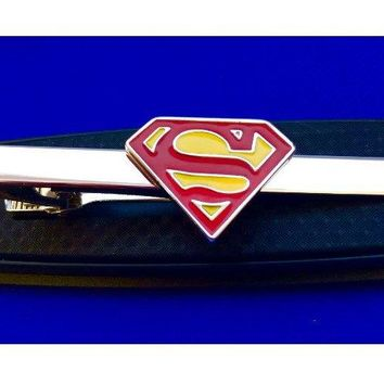 Superman Tie Bar Superhero~Handmade in the USA~FAST Shipping from the USA