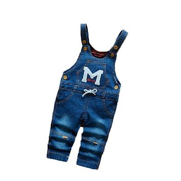 BibiCola 2017 Infant Girl Overalls Cute Toddler Clothing Cartoon Baby Boys Girls Bib Pants Baby Girl Casual Trousers