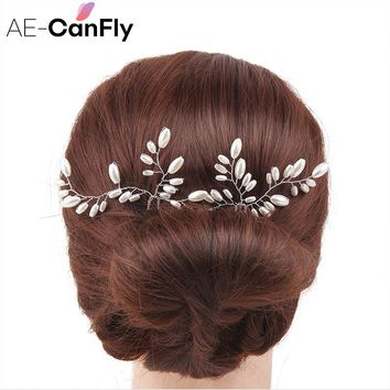1PC Wedding Hair Accessories Bridal Hairpins Clips Pearl Hair Stick Pin Fork for Women 2H4008