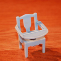 Renwal Blue Plastic Baby Potty Chair Dollhouse Miniature Vintage Toy