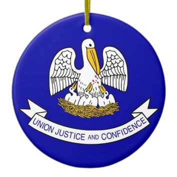 Ornament with flag of Louisiana