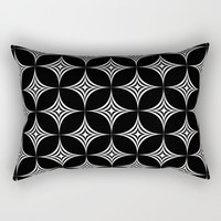 Large White Star Geometric Background Repeating Pattern Rectangular Pillow by podartist