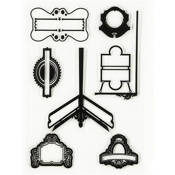 1 Set Label Transparent Stamp Variety Of Style Clear Stamp for DIY Scrapbooking Photo Album Diary Dceoration Supplies.