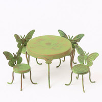 Butterfly Table and Chairs - My Fairy Gardens