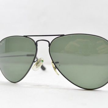 Vintage 80s Ray Ban Unisex Bausch Lomb Small Frame Aviator Sunglasses Gray Lens