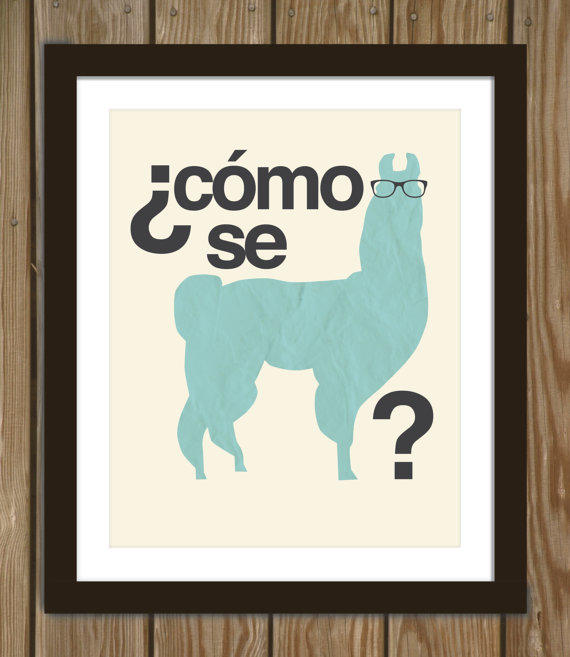 Grammatically Correct Hipster Llama Quote From Arcadiagraphic On