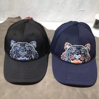 """Kenzo"" All-match Casual Unisex Tiger Head Letter Embroidery Flat Cap Baseball Cap Couple Sun Hat"