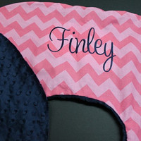 Personalized Chevron Boppy Cover with your choice of Chevron and Minky Mongrammed