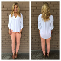 White Natalie Blouse
