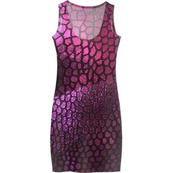 MDIGUE5 Purple Scales Dress