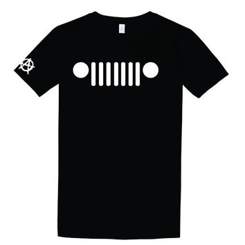 Jeep Grill T Shirt- Anarchy